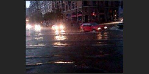 Pēc negaisa Rīgā. Matisa iela