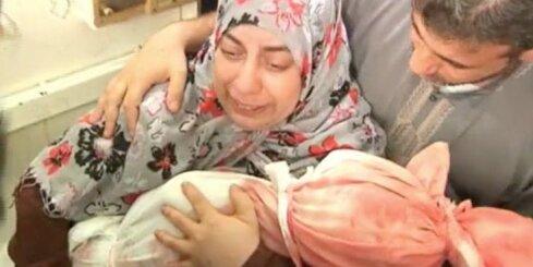 Gazas joslā apglabā Izraēlas uzbrukumos nogalinātos bērnus