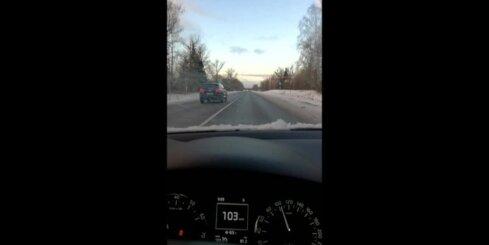 VID auto pārkāpj satiksmes noteikumus