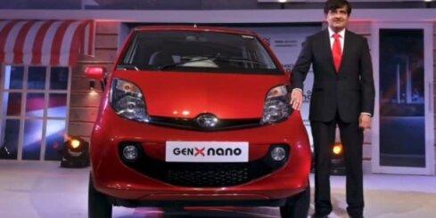 Indiešu uzlabojuši pasaulē vislētāko auto 'Tata Nano'