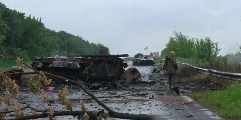 Iznīcinātā Ukrainas teroristu bruņutehnikas kolonna