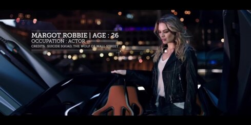 Holivudas aktrise Margo Robija un 'Nissan BladeGlider' elektromobilis
