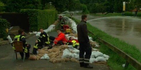 Vācijā sākušies plūdi