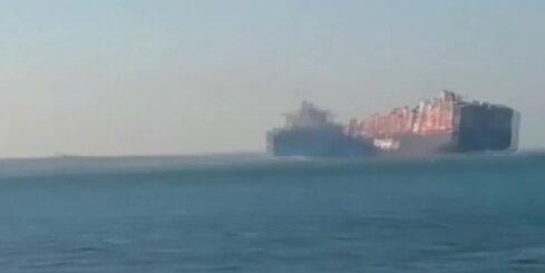 Suecas kanālā saduras divi kuģi