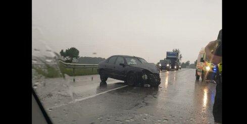 Smaga avārija uz Liepājas šosejas