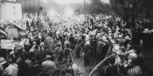 Arhīva video: Manifestācija Lietuvā