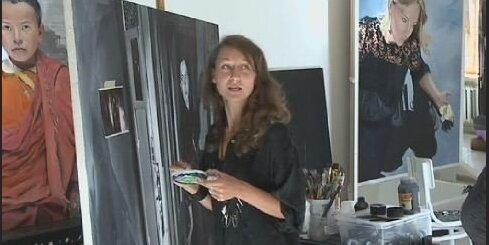 Gleznotāja Flēra - latviete Nepālas budismā
