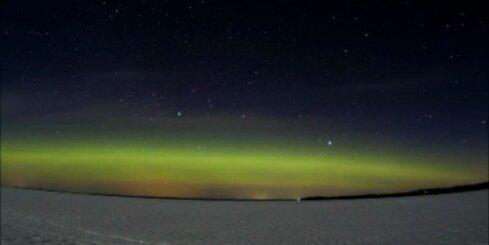 Virs Latvijas novērota ziemeļblāzma