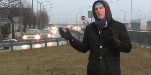 Kāpēc veidojas sastrēgums Dienvidu tilta Pārdaugavas galā pie piena kombināta