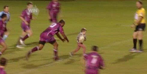 Četrgadīgs zēns Austrālijā 'apspēlē' regbija komandu