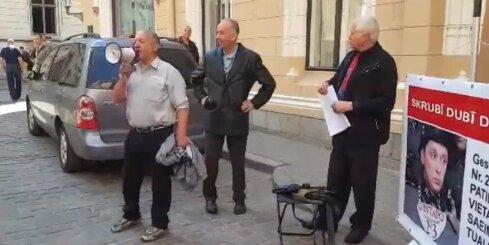 Protests pret Kaimiņa partijas veidošanu