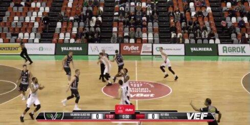 'OlyBet' basketbola līga: 'Valmiera glass/ViA' - 'VEF Rīga'