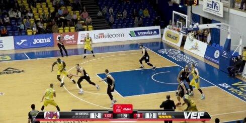 'OlyBet' basketbola līga: 'Ventspils' - 'VEF Rīga'. Spēles labākie momenti