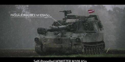 Latvijas karavīri Austrijā apgūst jaunās haubices