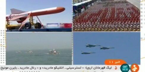 Irānas armija demonstrē muskuļus