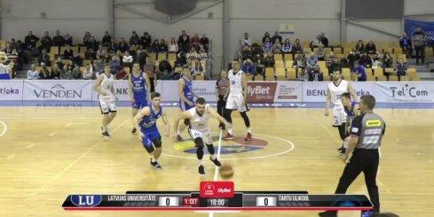 'OlyBet' basketbola līga: LU - 'Tartu Ulikool'. Pilns ieraksts