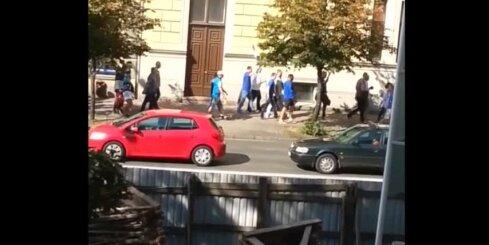 Igauņu basketbola fani Rīgā