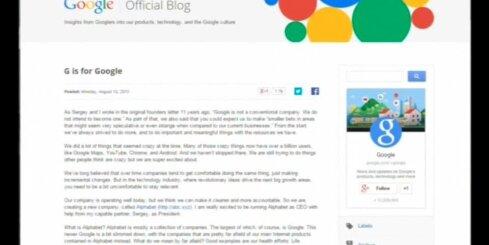 'Google' veiks vērienīgu reorganizāciju