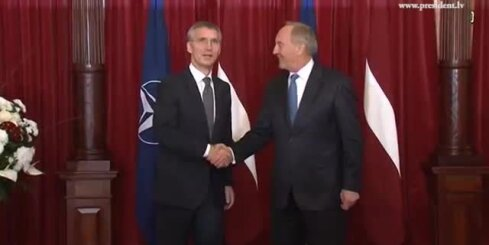Valsts prezidents tiekas ar NATO ģenerālsekretāru Jensu Stoltenbergu