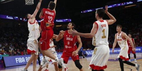 В полуфинале чемпионата Европы сборная России уступила сербам