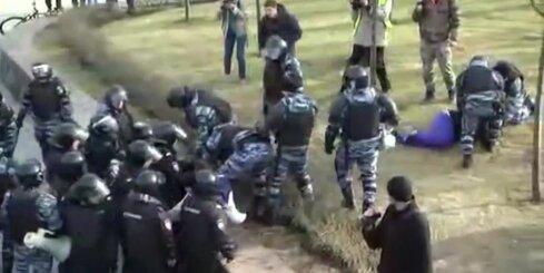 Policija Maskavā izdzenā protesta akciju