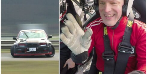 Timrots mēģina driftēt ar 450 ZS jaudīgu sacīkšu BMW
