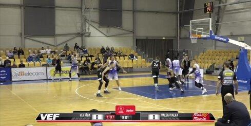 'OlyBet' basketbola līga: 'VEF Rīga' - 'Valga-Valka/Maks&Moorits'. Labākie momenti (15.11.2018.)
