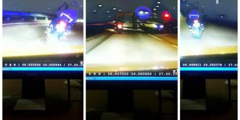 Rīgā asinsstindzinoša policijas pakaļdzīšanās motociklistam ar pasažieri