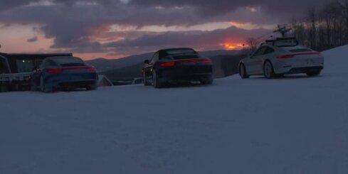 Braukšana ar 'Porsche' ziemā