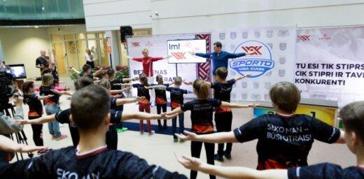 LOK projekts 'Sporto visa klase': skolēni, viņu vecāku un skolotāji ikdienā kustas par maz