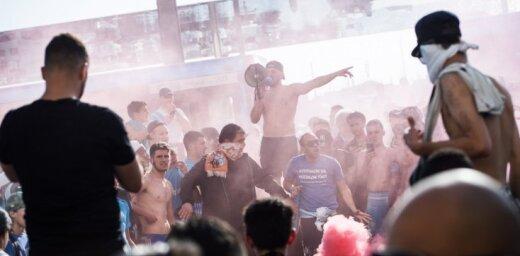 Pēc UEFA Eiropas līgas finālspēles aizturēti divi desmiti nemierīgu līdzjutēju