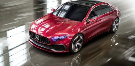 'Mercedes' demonstrē nākamās paaudzes A-klases agresīvo veidolu