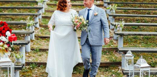 Ekskluzīvi foto: 'Caur ērkšķiem uz...' Ineses sapņu kāzas