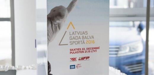 Nosaukti 'Latvijas Gada balvas sportā 2016' nominanti