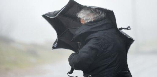 Во вторник усилится ветер, в Курземе ожидаются ливни