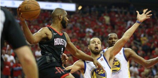 Hjūstonas 'Rockets' izlīdzina rezultātu NBA Rietumu konferences finālsērijā pret 'Warriors'