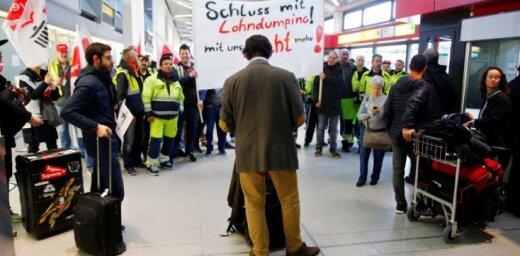 Berlīnes lidostu darbinieki gatavojas streikam