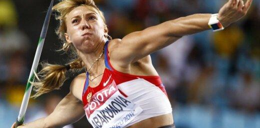 Pasaules čempione šķēpmešanā Abakumova piekritusi četru gadu diskvalifikācijai