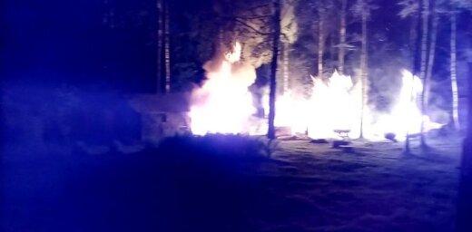 Video: Svētdien dārza mājiņā Kandavā izcēlies ugunsgrēks