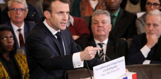 Makrons paziņo par plānu veicināt franču valodas lietošanu