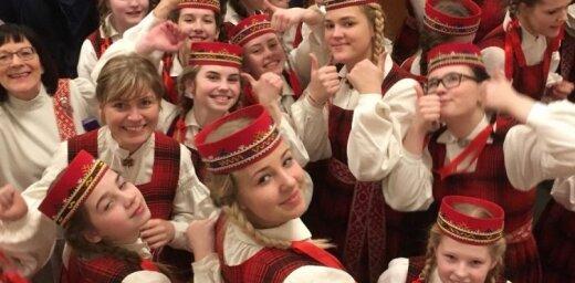 Video: Skolēnu koris 'Lielvārde' triumfē koru čempionātā Sanktpēterburgā
