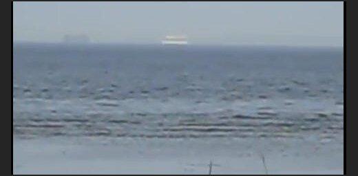 Spoku kuģi Jūrmalā (aculiecinieka video)