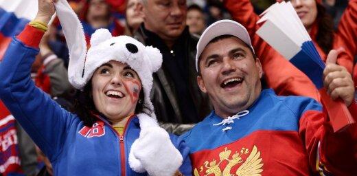 Russian hockey fans