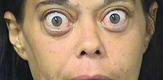 Pasauli uzjautrina noziedzniece ar izvalbītām acīm