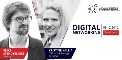 Digital networking ar Ēriku Stendzenieku (Mooz!) un Kristīni Kalēju (220.lv)