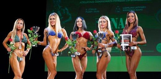ФОТО: В Лиепае прошли международные соревнования по бодибилдингу и фитнесу