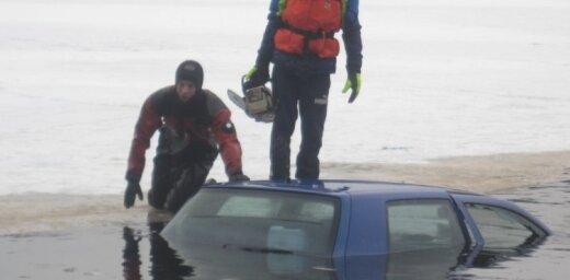 Sods par braukšanu ar auto pa ūdenstilpņu ledu ir līdz 2100 eiro