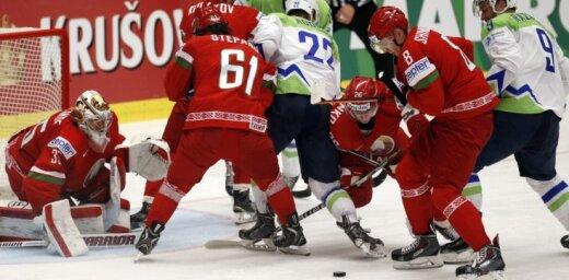 Baltkrievija PČ sāk ar smagu uzvaru pār pastarīti Slovēniju