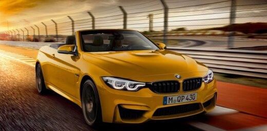 'BMW M4' kabriolets speciālajā jubilejas versijā '30 Jahre'