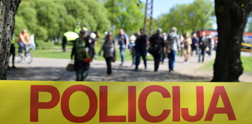 Foto: Uzvaras parkā trešdien kopumā aizturētas 27 personas (plkst.23.37)
